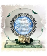 My Star in Heaven Beautiful creative Glass Round Memorial Plaque  #4 - $34.64
