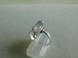 925 STERLING SILVER HANDMADE RING RAINBOW MOONSTONE CABOCHON OF WT.-2.5 ... - $21.46