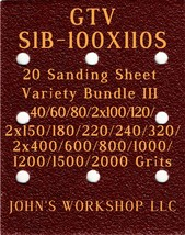 GTV S1B-100X110S - 17 Different Grits - 20 Sheet Variety Bundle III - $19.97
