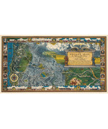 Vintage Pictorial Oregon Trail Map Historic Antique Wall Art Poster Prin... - $12.87+