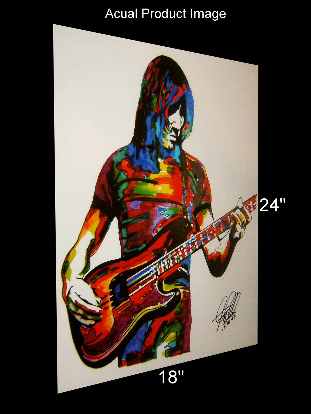 "Roger Waters of Pink Floyd, Singer, Vocals, Bass Guitar, Rock, 18""x24"" Art Print"