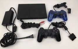 Sony PlayStation 2 Slim PS2 Console WITH 2 Controllers Power Cords Bundl... - $69.29