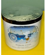 Bath & Body Works Sparkling Icicles Scented Jar Essential Oil Candle 14.5 - $34.64