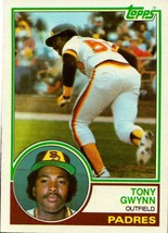 1983 TOPPS ROOKIE #482 TONY GWYNN SAN DIEGO PADRES BASEBALL CARD - $17.64
