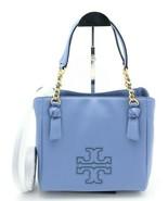 NWT Tory Burch Harper Blue Leather Satchel Shoulder Crossbody Bag Tote N... - $248.00