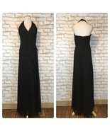 David's Bridal Women's Black Halter Top Floor Length Gown Size 6 Style F... - $44.09