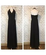 David's Bridal Women's Black Halter Top Floor Length Gown Size 6 Style F12688 - $44.09