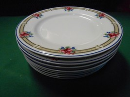 "Beautiful NIKKO China ""Victoria"" Made in Thailand- 8 BREAD-SALAD-Plates 6.25""D - $34.36"