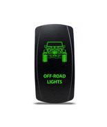 Rocker Switch Jeep Wrangler JK Off-Road Lights Symbol - Green LED - $16.44