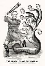Hercules Of The Union - General Winfield Scott - 1861 - Political Cartoo... - $9.99+