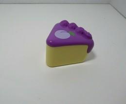 LeapFrog Musical Rainbow Tea Set Cake Slice Replacement Part purple blueberry A1 - $4.94