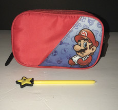 Super Mario Bros Carrying Case Pouch Nintendo DS Zipper Red Travel Case ... - $14.96