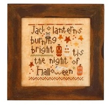 Wee One: Halloween Night cross stitch chart Heart in Hand - $7.65