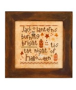 Wee One: Halloween Night cross stitch chart Heart in Hand - $7.65