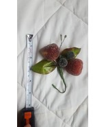"""""""Sugared"""" Decorative FRUIT: Red Apples, Green Grapes, vintage, pre-owned... - $9.50"""