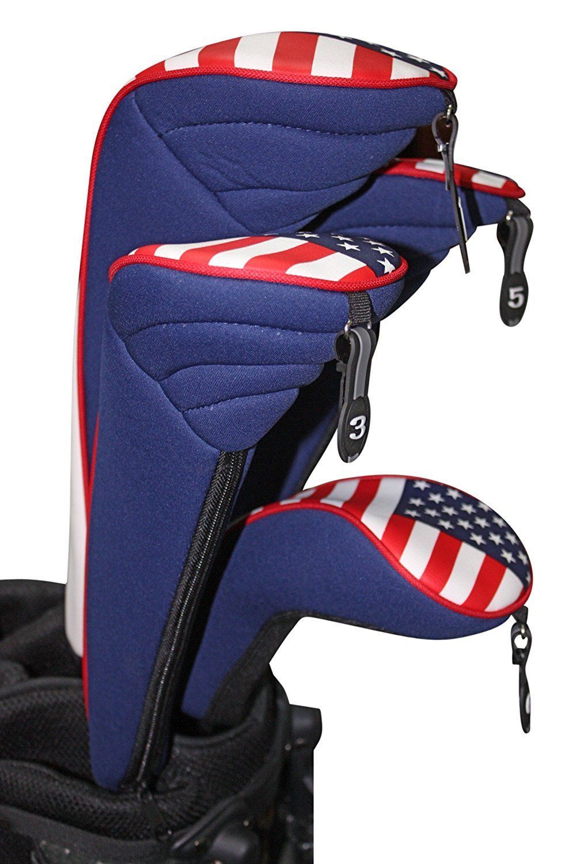 USA Patriota Golf Cremallera Fundas para 1 3 5H Pilotos Híbrido Calle Cubierta