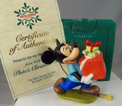 "Mickey Mouse Ornament Presents for My Pals 1995 Disney COA NIB Porcelain 3"" - $38.69"