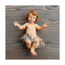 Wooden hand painted and Gold gilded Baby Jesus figurine for Nativity sce... - $18.95+