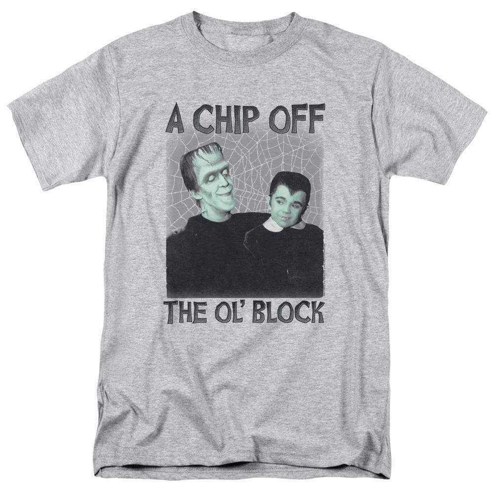 The Munsters t-shirt Herman & Eddie Chip Off the Ol' Block graphic tee NBC908