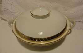 """Rosenthal Germany """"Gloriette Form E"""" Round Covered Serving Bowl White/Go... - $49.98"""