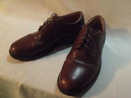 Men's Brown Leather Bass Flex Pickett 0403206 Oxford Dress Shoes Size 10.5M - $44.55