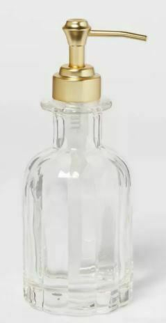 Fluted Glass Solid Soap Pump Clear - Threshold