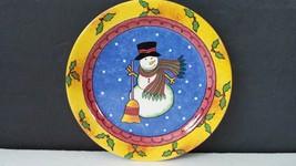 Sango Sweet Shoppe Sue Zipkin Snowman Christmas Salad Dessert Plate 8 inch - $10.39