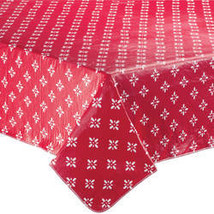 Heritage Vinyl Table Cover By Home-Style Kitchen-54X72OBLONG-RED - $14.59