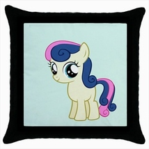 Throw pillow case pony small horse cute kawaii childish baby room - $19.50