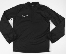 Nike Shield Training Soccer Futbol 1/2 Zip LS Rain Jacket Youth M Black ... - $31.19