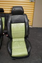 00-04 Volkswagen Vw Beetle Bug Hatchback Turbo GLS Leather Seat Set Green & BLK image 5