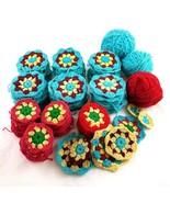 Vintage Granny Squares Premade Unfinished Make Your Own Blanket Afghan 1... - £43.18 GBP