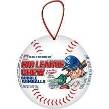 Lot of 4 Big League Chew Bubble Gum Holiday Baseball Christmas Ornament 0.63 oz