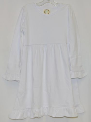 Blanks Boutique Long Sleeve Empire Waist White Ruffle Dress Size 4T
