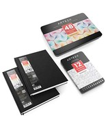 "ARTEZA Drawing Bundle, Hardcover Sketch Book 8.5x11"" Pack of 2, Fineline... - $49.16"
