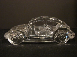 Hofbauer West Germany Crystal  Glass Volkswagen Beetle  - $19.99