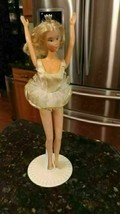 1976 1966 Ballerina Barbie Doll in Original White Satin Tutu plus Origin... - $30.62