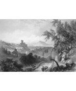 ITALY View of Lerici - 1864 Fine Quality Print Engraving - $49.50
