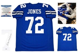Ed Too Tall Jones Autographed SIGNED Custom Jersey - Beckett Authentic w/ Photo - $118.79