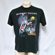 VTG 1989 Harley Davidson 3D Emblem Street Tough T Shirt 80s Tee Biker Tr... - $229.99