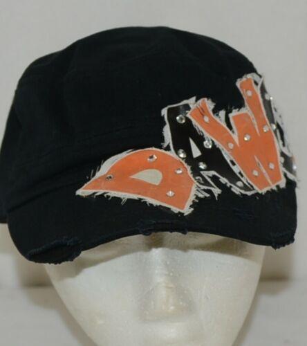 Unbranded Decorative Womans Hat Black Orange Dawgs Lettering Cadet Style