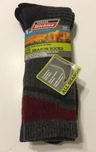 1-Pair Dickies Men Crew Socks Shoe Size 6-12 Steel Toe Wool Blend Gray - $11.99