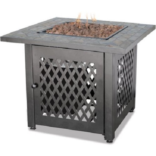 Outdoor Fire Pit Garden Deck Patio Furniture Square Fireplace Heater Propane Gas image 2