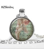 HZ--A287   O30 Ballet Collage necklace charm, ballerina necklace charm, ... - $6.89