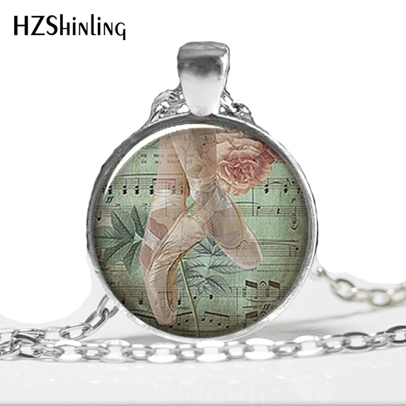 Primary image for HZ--A287   O30 Ballet Collage necklace charm, ballerina necklace charm, ballerin
