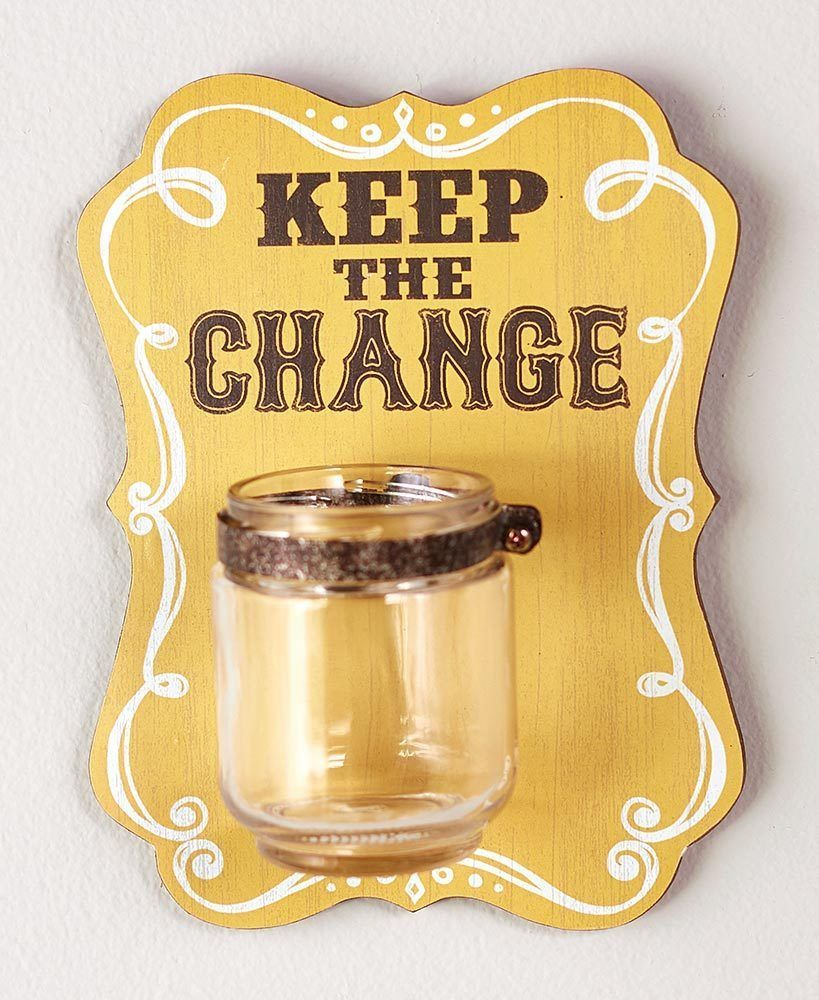 Keep the Change Jar Wall Decor Laundry Room and similar items
