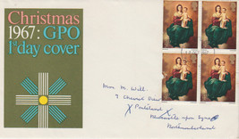 GB 1967 Christmas GPO FDC 4 x 3d stamps Newcastle postmark see rest - $0.39