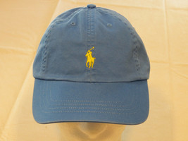 Mens Polo Ralph Lauren hat cap golf casual Jewel Blue 4331004 adjustable... - $29.39