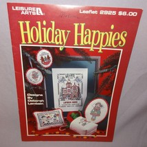 Holiday Happies Christmas Cross Stitch Leaflet 2925 Patterns 1997 House ... - $9.99