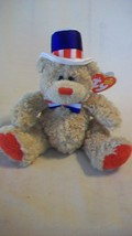 Independence the Bear with Red Feet Ty Beanie Baby DOB July 4, 2006 - $6.92